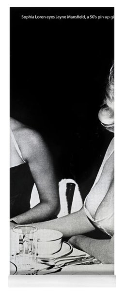 Jayne Mansfield Hollywood  Actress Sophia Loren 1957 Yoga Mat