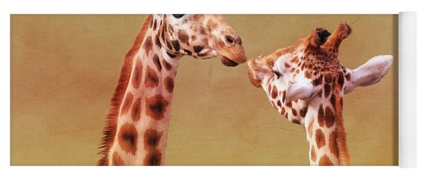 Je T'aime Giraffes Yoga Mat