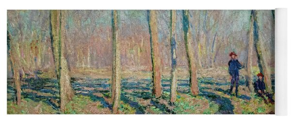 Jean Pierre Hoschede And Michel Monet On The Bank Of The Epte Yoga Mat