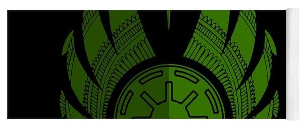Jedi Symbol - Star Wars Art, Green Yoga Mat