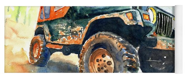 Jeep Wrangler Watercolor Yoga Mat