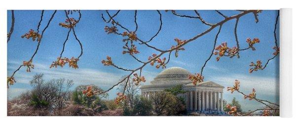 Jefferson Memorial - Cherry Blossoms Yoga Mat