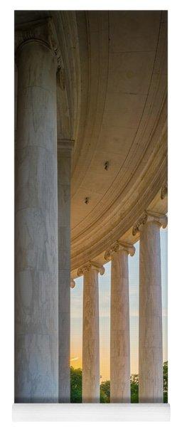 Jefferson Memorial Dawn Yoga Mat
