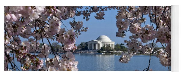 Jefferson Memorial On The Tidal Basin Ds051 Yoga Mat