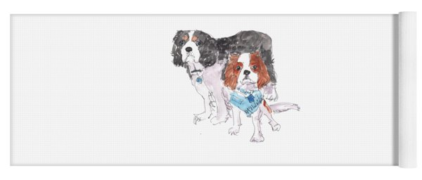 Jeffs Dogs Watercolor Kmcelwaine  Yoga Mat