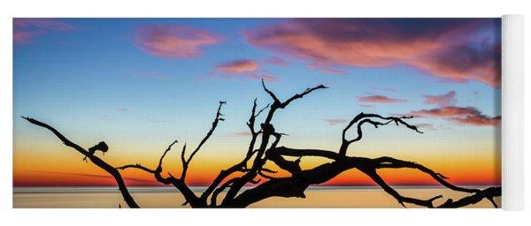 Jekyll Island Sunrise On Driftwood Beach Yoga Mat
