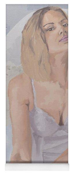Jenny In White Yoga Mat