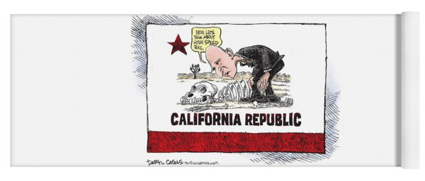 Jerry Brown - California Drought And High Speed Rail Yoga Mat