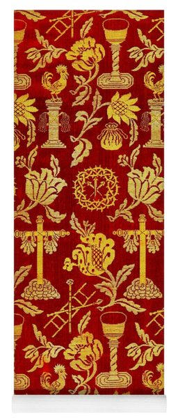 Jesus Crucifixion Iconography Tapestry  From Spain 1600s Yoga Mat