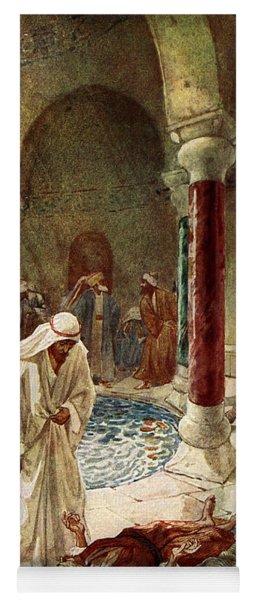 Jesus Cures A Sick Man Yoga Mat