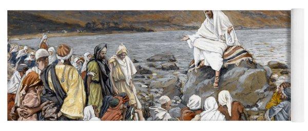 Jesus Preaching Yoga Mat