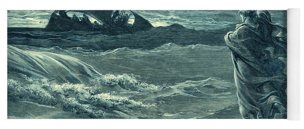 Jesus Walking On Water By Gustave Dore Yoga Mat