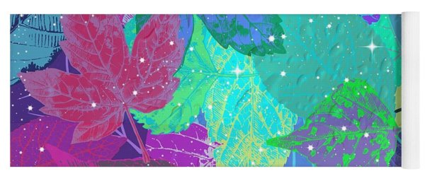 Jeweled Leaves Yoga Mat