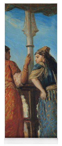 Jewish Women At The Balcony In Algiers Yoga Mat