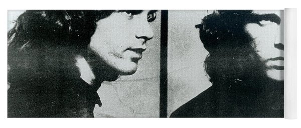 Jim Morrison Mug Shot Horizontal Yoga Mat