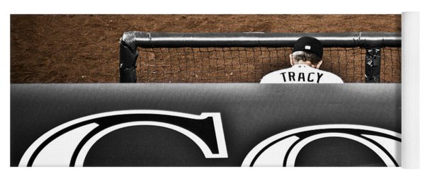 Jim Tracy Rockies Manager Yoga Mat