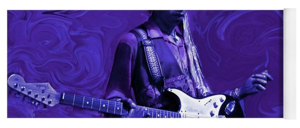 Yoga Mat featuring the photograph Jimi Hendrix Purple Haze by David Dehner