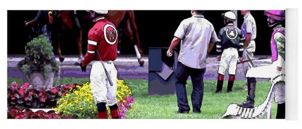 Jockeys Painting Yoga Mat