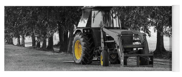 Yoga Mat featuring the photograph John Deere 620 In Selective Color by Doug Camara