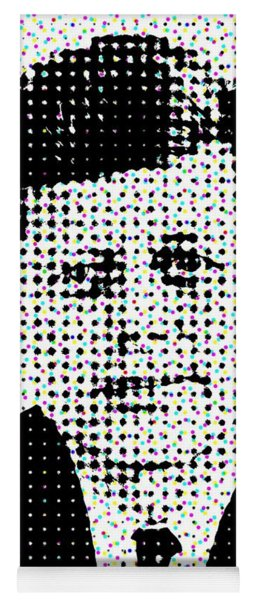 John F Kennedy In Dots Yoga Mat