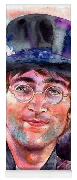 John Lennon Portrait Yoga Mat