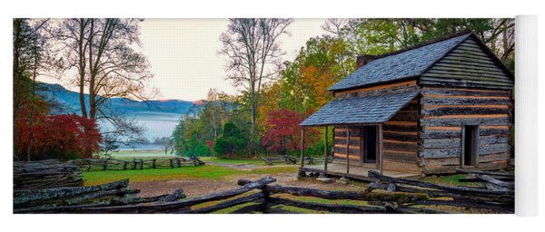 John Oliver Place In Cades Cove Yoga Mat
