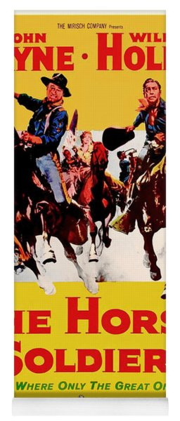 John Wayne And William Holden In The Horse Soldiers 1959 Yoga Mat