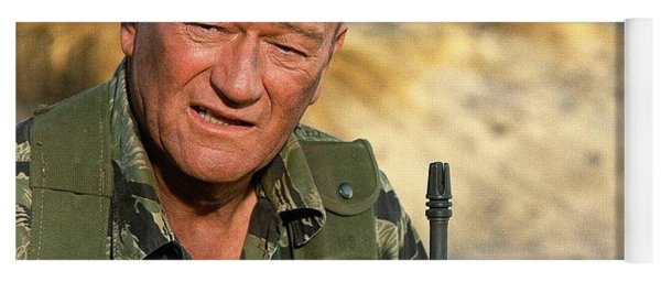 John Wayne As Colonel Mike Kirby The Green Berets 1968 Yoga Mat