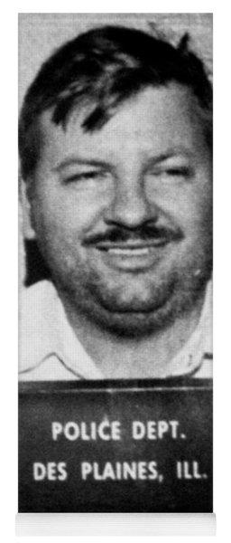 John Wayne Gacy Mug Shot 1980 Black And White Yoga Mat