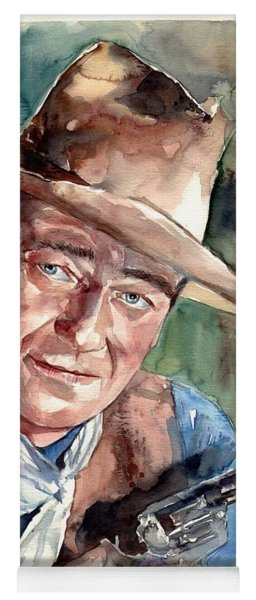 John Wayne Portrait Yoga Mat