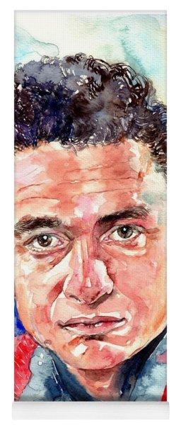 Johnny Cash Portrait Yoga Mat