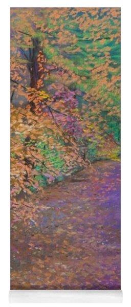 John's Pond In The Fall Yoga Mat