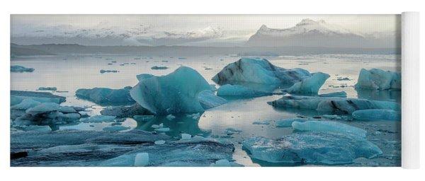 Jokulsarlon, The Glacier Lagoon, Iceland 6 Yoga Mat