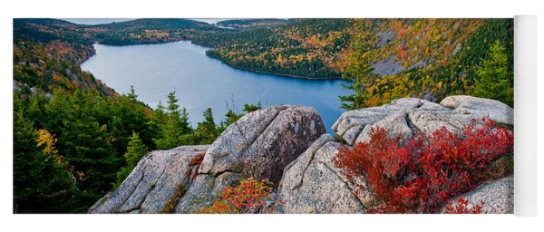 Jordan Pond Sunrise  Yoga Mat