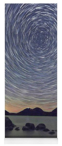 Jordon Pond Star Trails Yoga Mat
