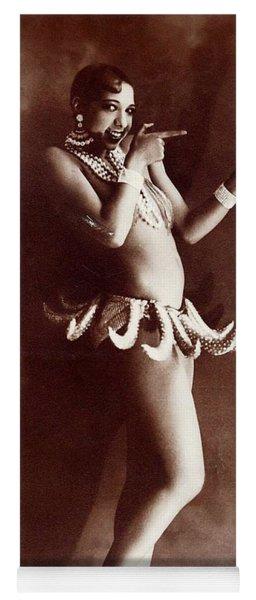 Josephine Baker Lucien Walery   Banana Skirt From The Folies Bergere Production Un Vent De Folie Yoga Mat
