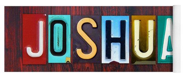 Joshua License Plate Lettering Name Sign Art Yoga Mat