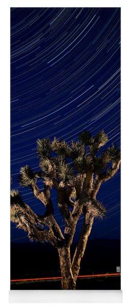 Joshua Tree And Star Trails Yoga Mat
