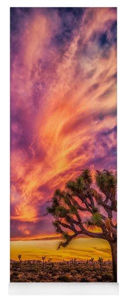 Joshua Tree In The Glowing Swirls Yoga Mat