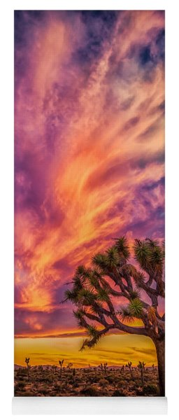Joshua Tree In The Glowing Swirls Yoga Mat