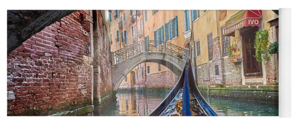 Journey Through Dreams - A Ride On The Canals Of Venice, Italy Yoga Mat