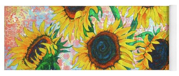 Joy Of Sunflowers Desiring Yoga Mat