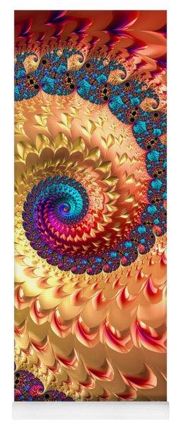 Joyful Fractal Spiral Full Of Energy Yoga Mat
