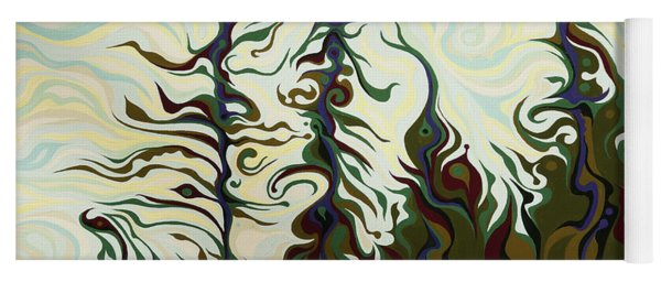 Joyful Pines, Whispering Lines Yoga Mat