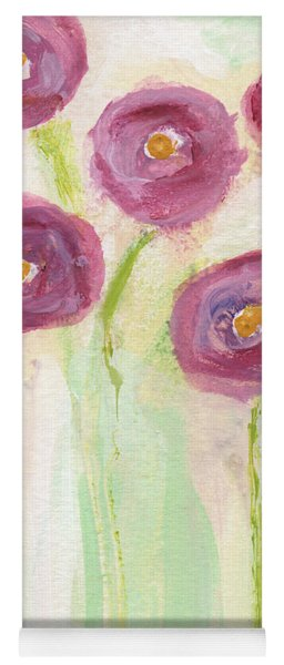 Joyful Poppies- Abstract Floral Art Yoga Mat