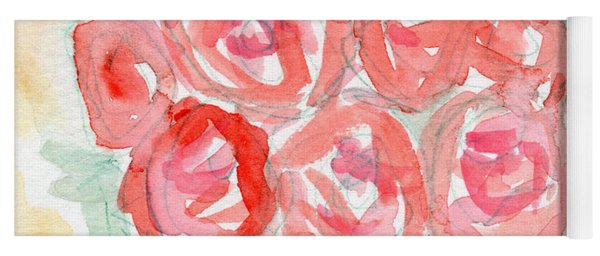 Joyful Roses- Art By Linda Woods Yoga Mat