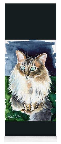 Juju - Cashmere Bengal Cat Painting Yoga Mat