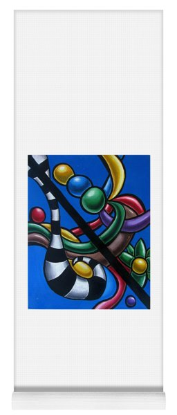 Jungle Stripes 3 - Original Abstract Art Painting - Modern Chromatic Art Yoga Mat