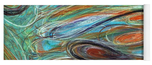 Jupiter Explored - An Abstract Interpretation Of The Giant Planet Yoga Mat