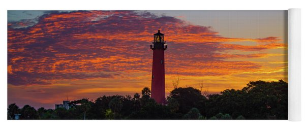 Jupiter Lighthouse Amazing Color Yoga Mat